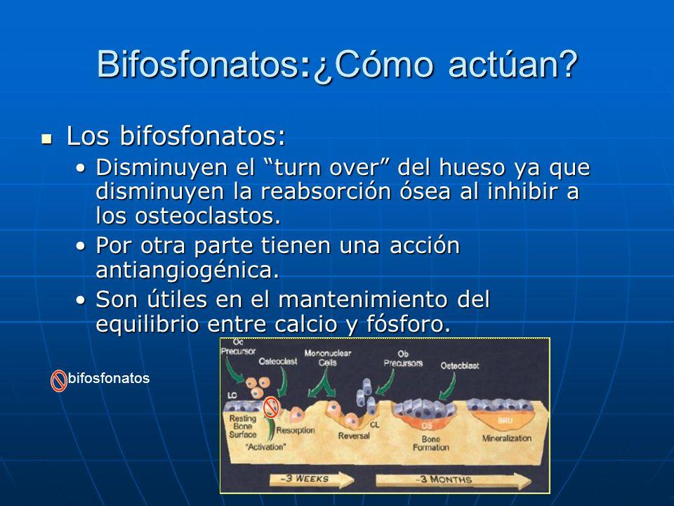 Bifosfonatos:¿Cómo actúan