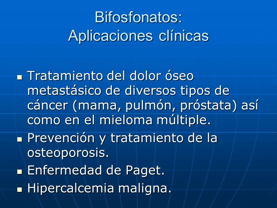 Bifosfonatos: Aplicaciones clínicas