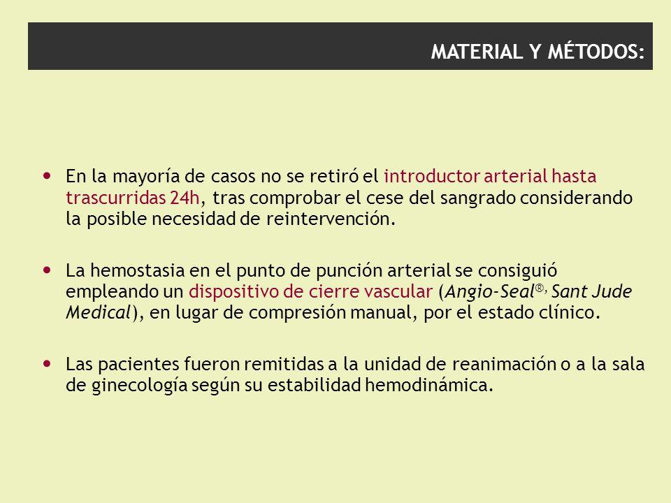 MATERIAL Y MÉTODOS: