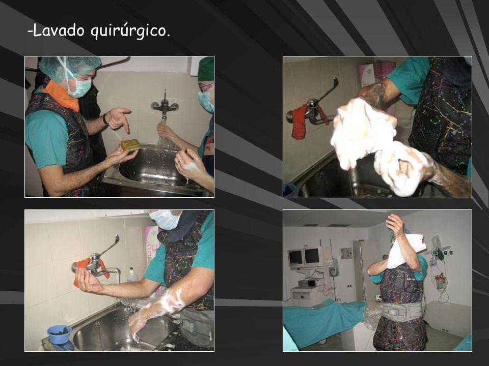 -Lavado quirúrgico.