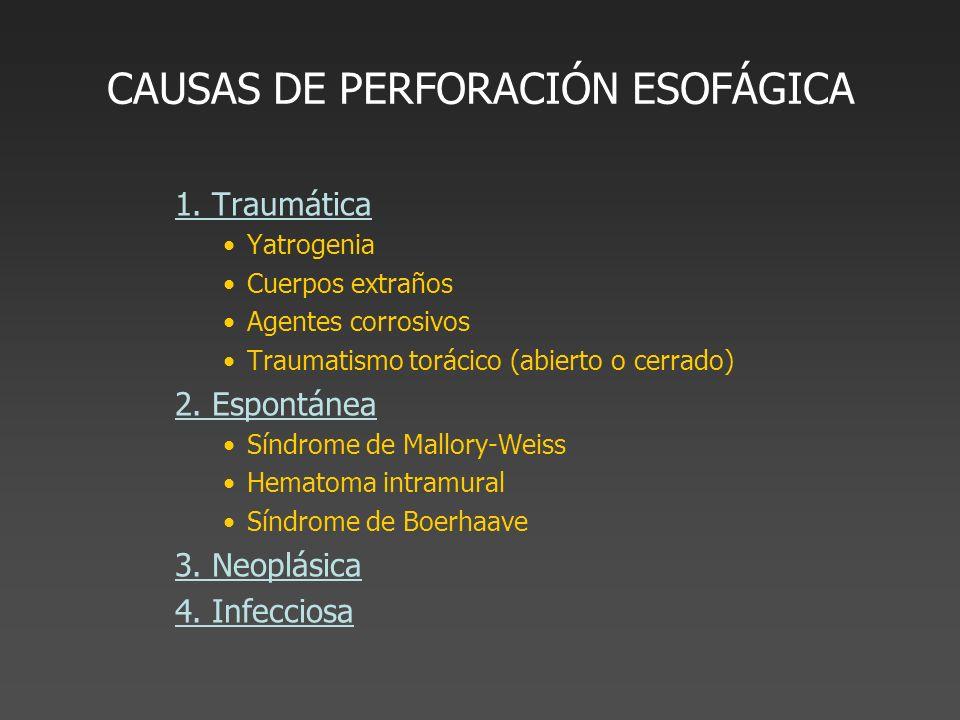 CAUSAS DE PERFORACIÓN ESOFÁGICA