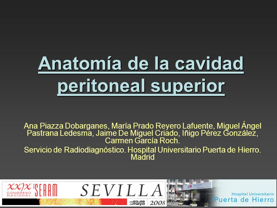 Anatomía de la cavidad peritoneal superior