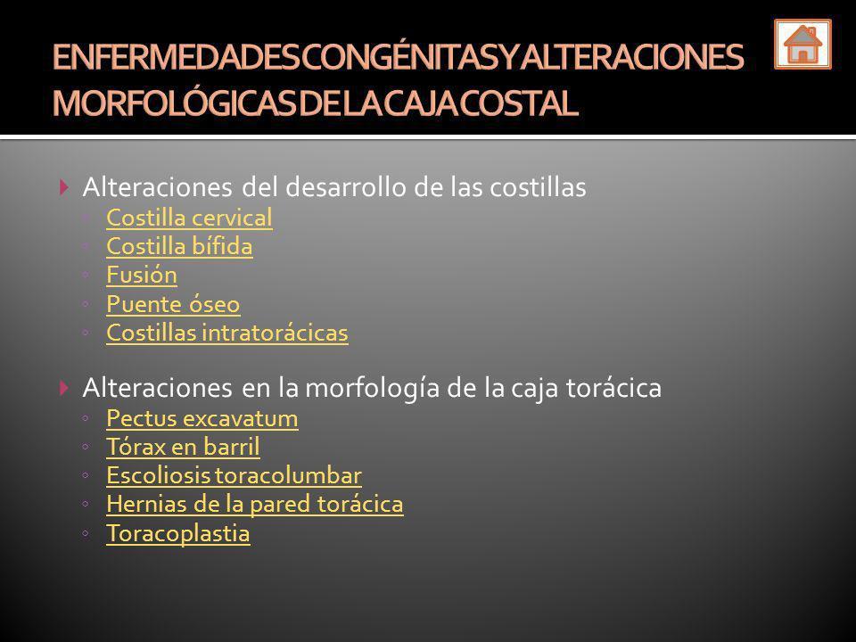 ENFERMEDADES CONGÉNITAS Y ALTERACIONES MORFOLÓGICAS DE LA CAJA COSTAL