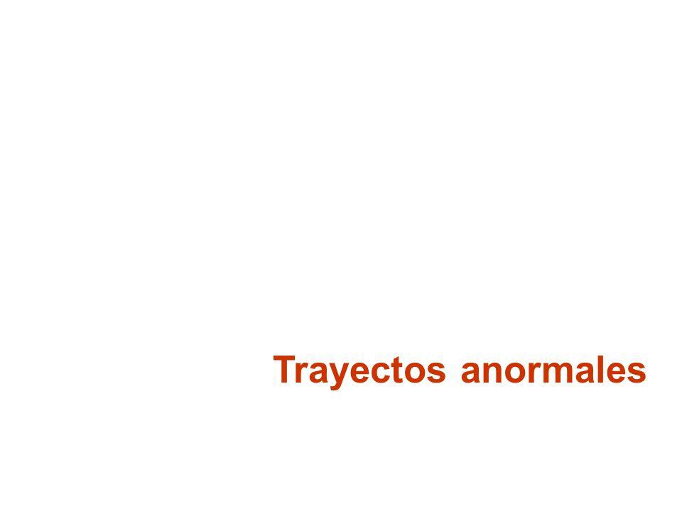Trayectos anormales