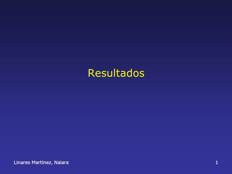 Resultados Linares Martínez, Naiara