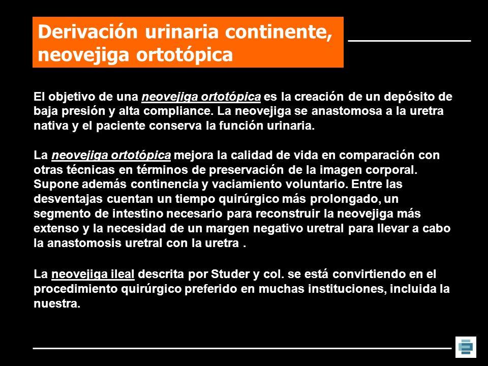 Derivación urinaria continente, neovejiga ortotópica