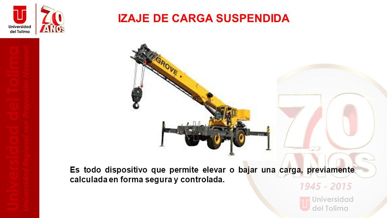 IZAJE DE CARGA SUSPENDIDA