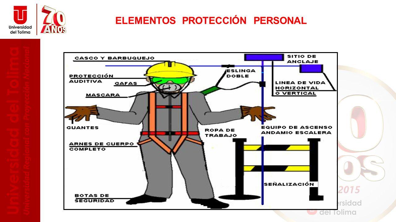 ELEMENTOS PROTECCIÓN PERSONAL