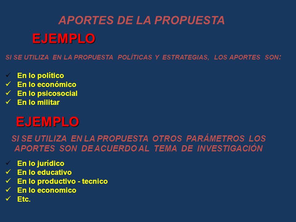 APORTES DE LA PROPUESTA