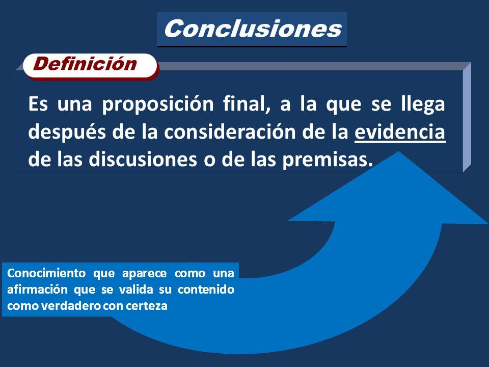 Conclusiones Definición.