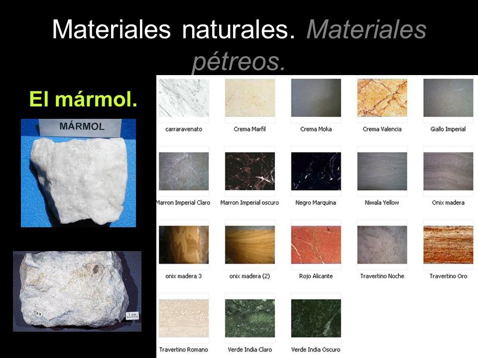 Materiales naturales ppt descargar for Significado de marmol