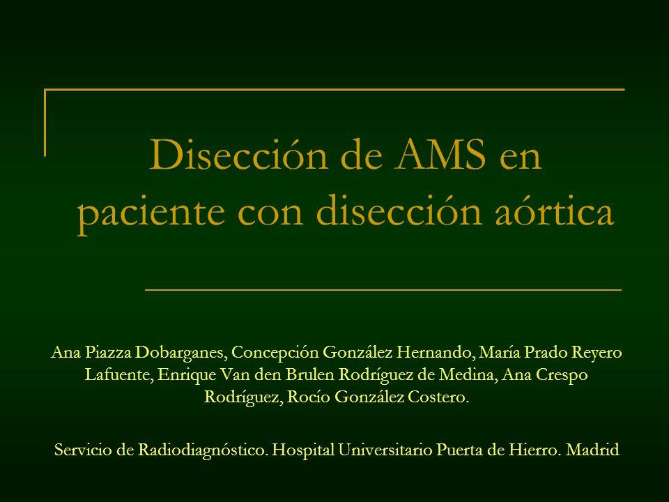 Disección de AMS en paciente con disección aórtica