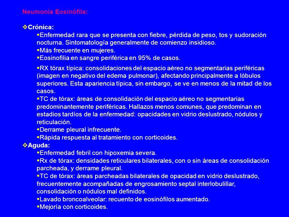 Neumonía Eosinófila: Crónica: