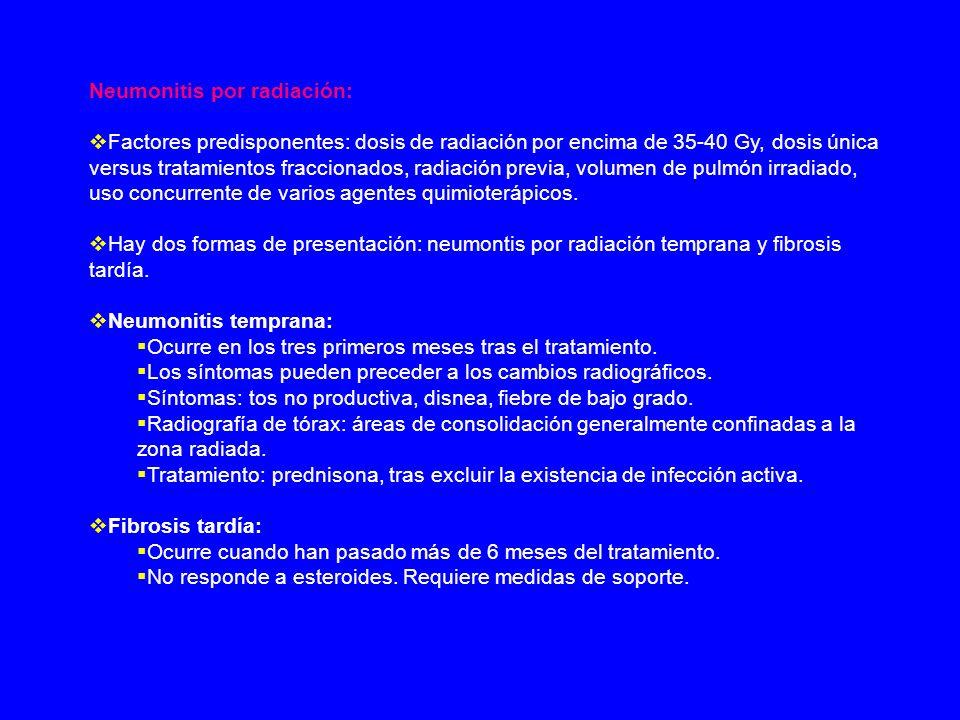 Neumonitis por radiación: