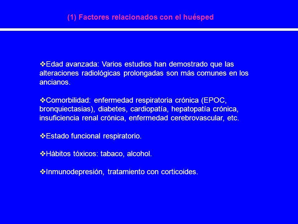 (1) Factores relacionados con el huésped