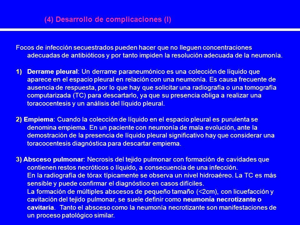(4) Desarrollo de complicaciones (I)