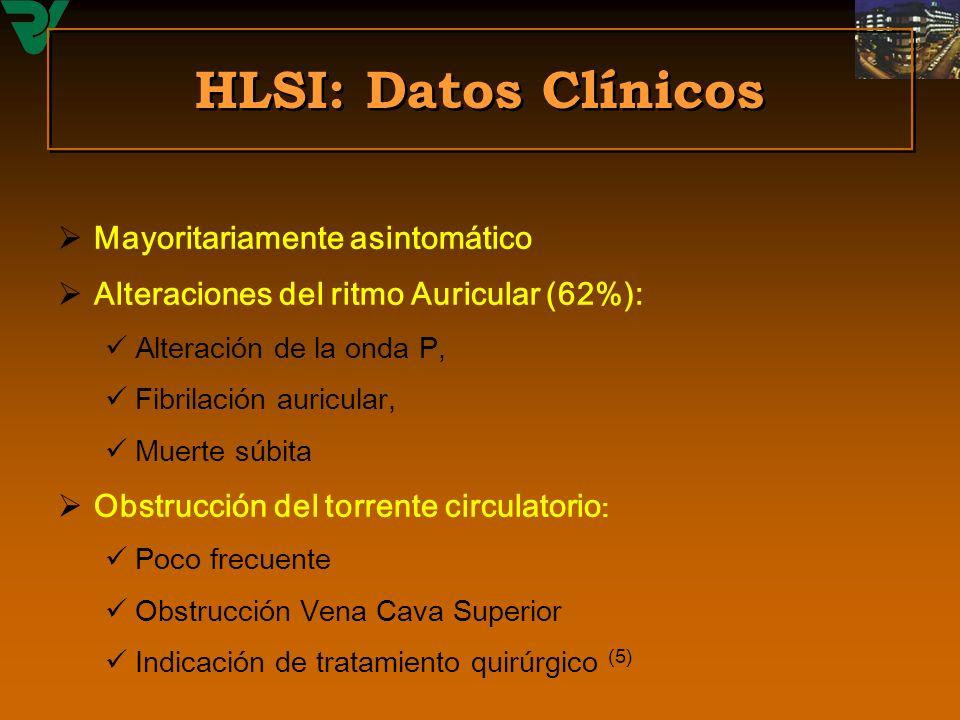 HLSI: Datos Clínicos Mayoritariamente asintomático
