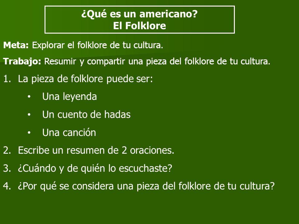 ¿Qué es un americano El Folklore