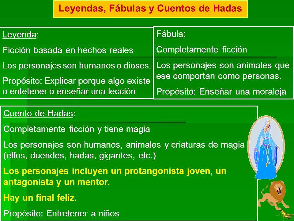 Leyendas, Fábulas y Cuentos de Hadas