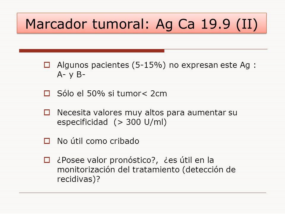 Marcador tumoral: Ag Ca 19.9 (II)