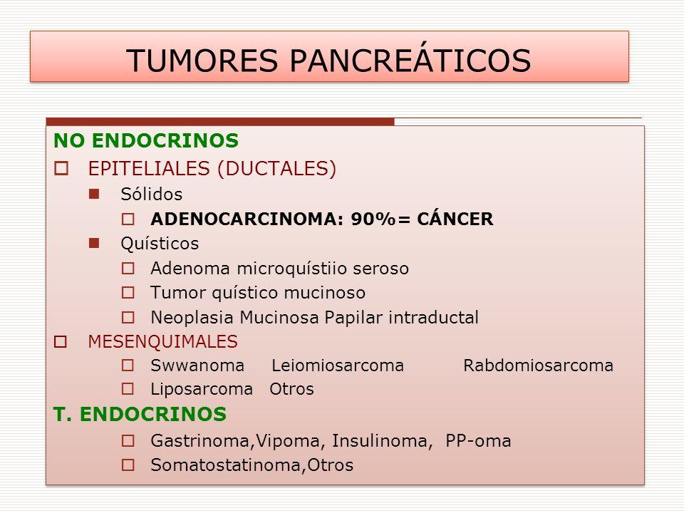 TUMORES PANCREÁTICOS NO ENDOCRINOS EPITELIALES (DUCTALES)