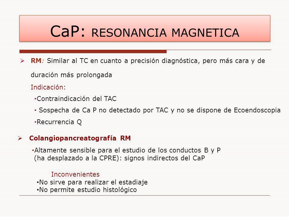 CaP: RESONANCIA MAGNETICA