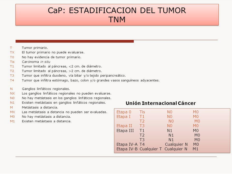 CaP: ESTADIFICACION DEL TUMOR TNM