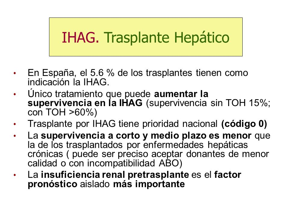 IHAG. Trasplante Hepático