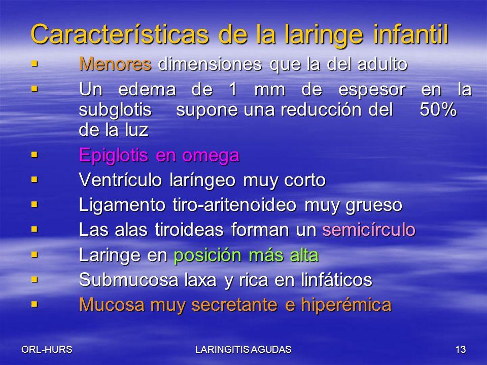 Características de la laringe infantil