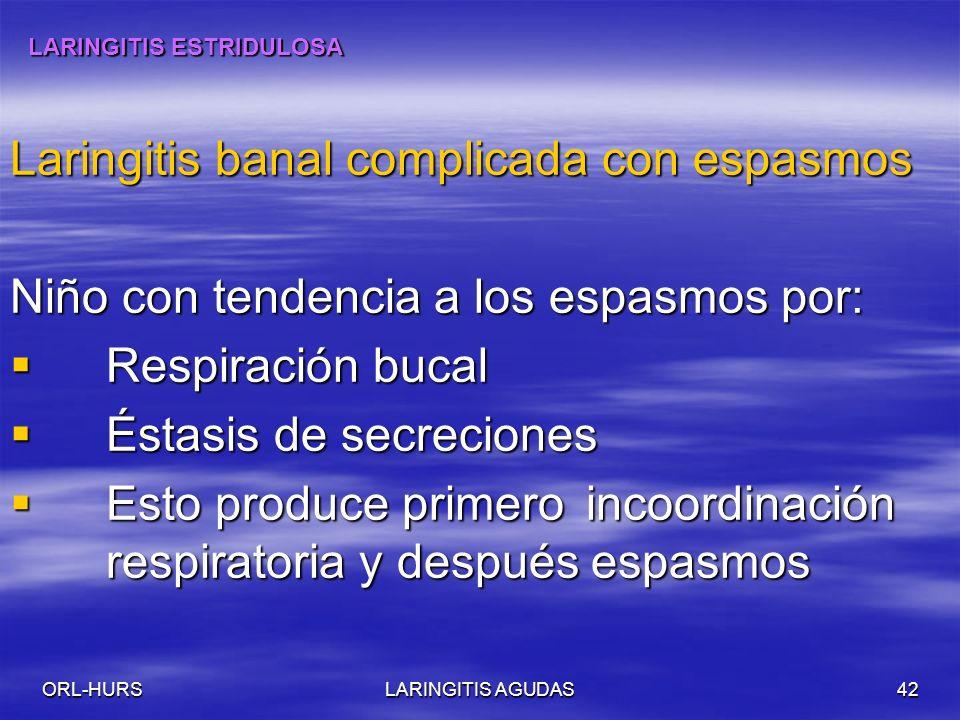 Laringitis banal complicada con espasmos