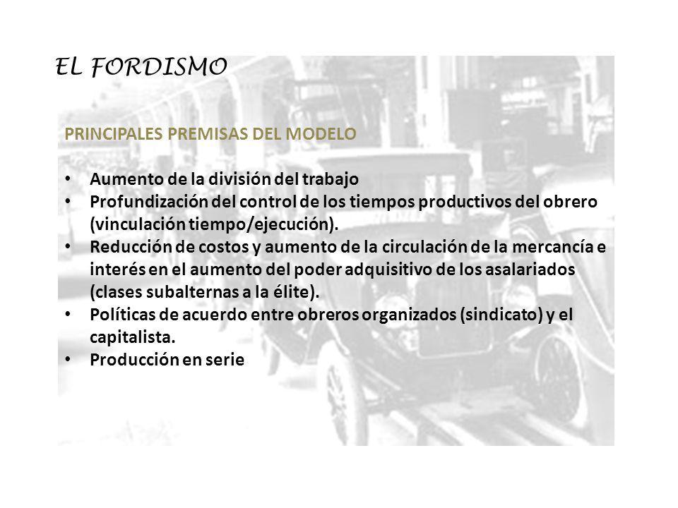 EL FORDISMO PRINCIPALES PREMISAS DEL MODELO