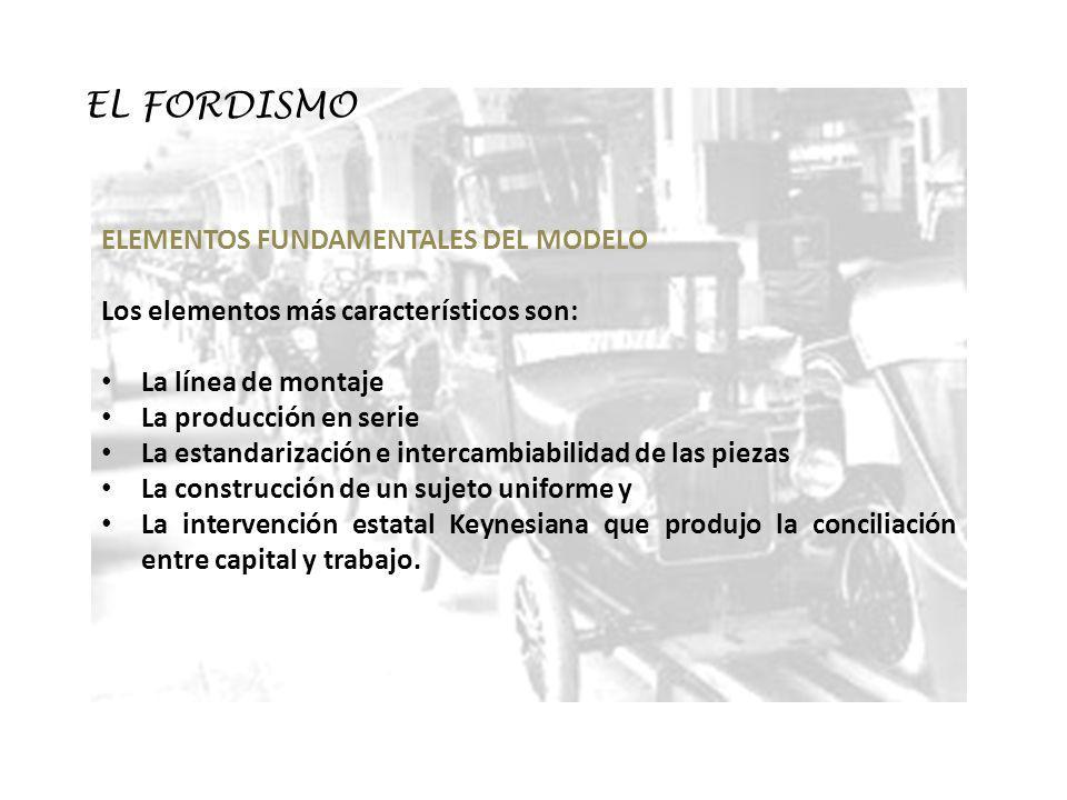 EL FORDISMO ELEMENTOS FUNDAMENTALES DEL MODELO