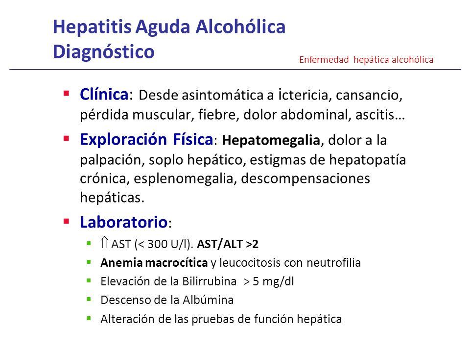 Hepatitis Aguda Alcohólica Diagnóstico
