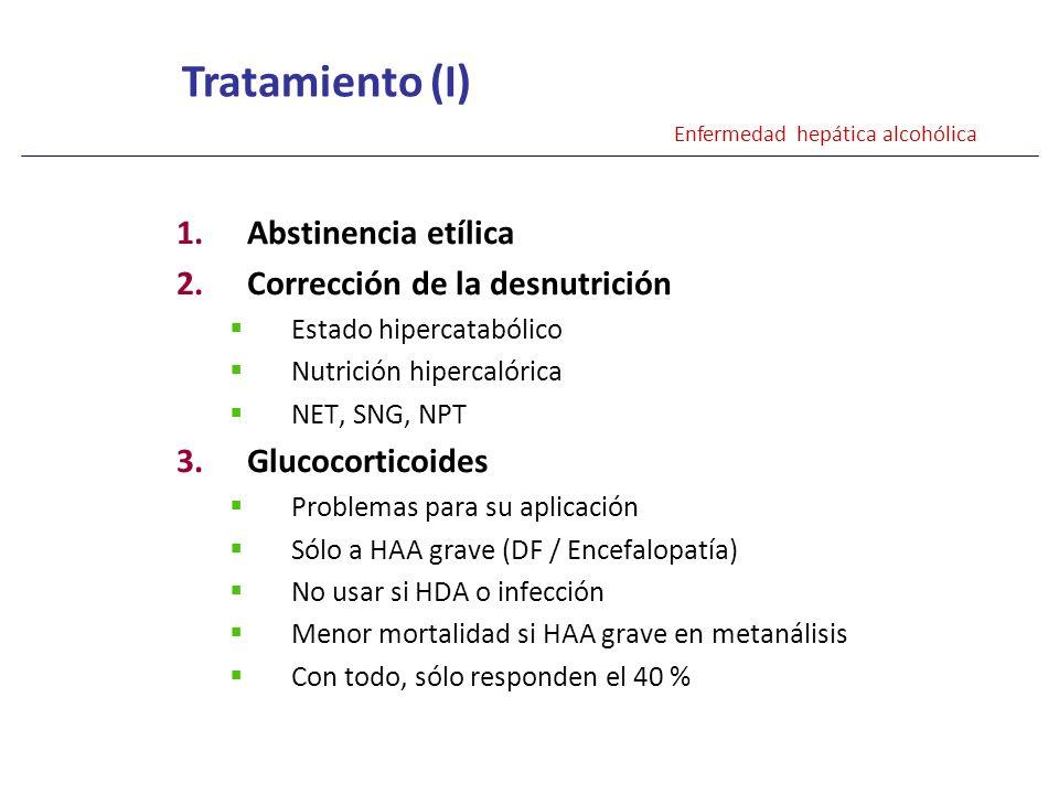 Tratamiento (I) Abstinencia etílica Corrección de la desnutrición