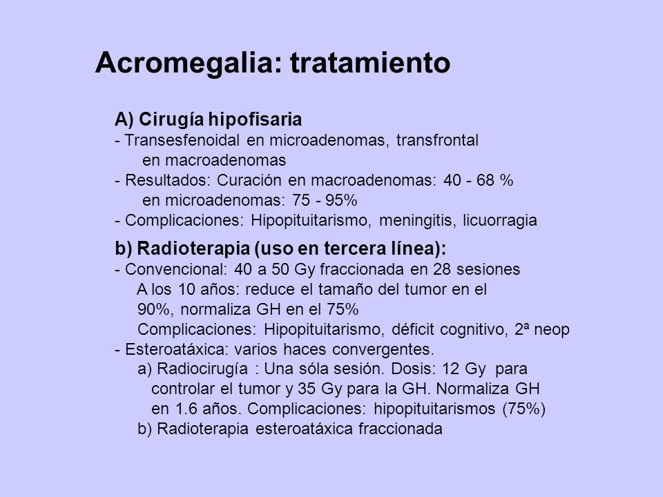Acromegalia: tratamiento