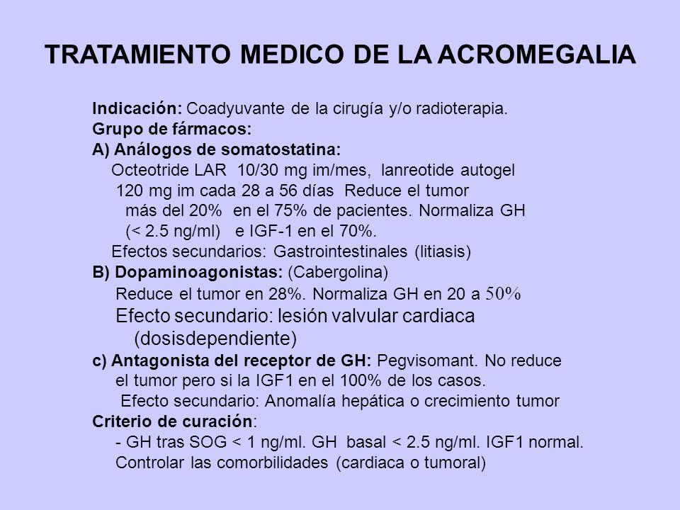 TRATAMIENTO MEDICO DE LA ACROMEGALIA