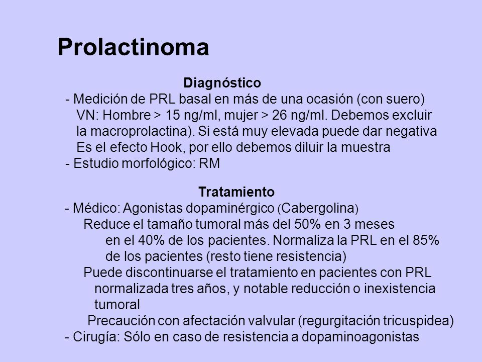 Prolactinoma Diagnóstico