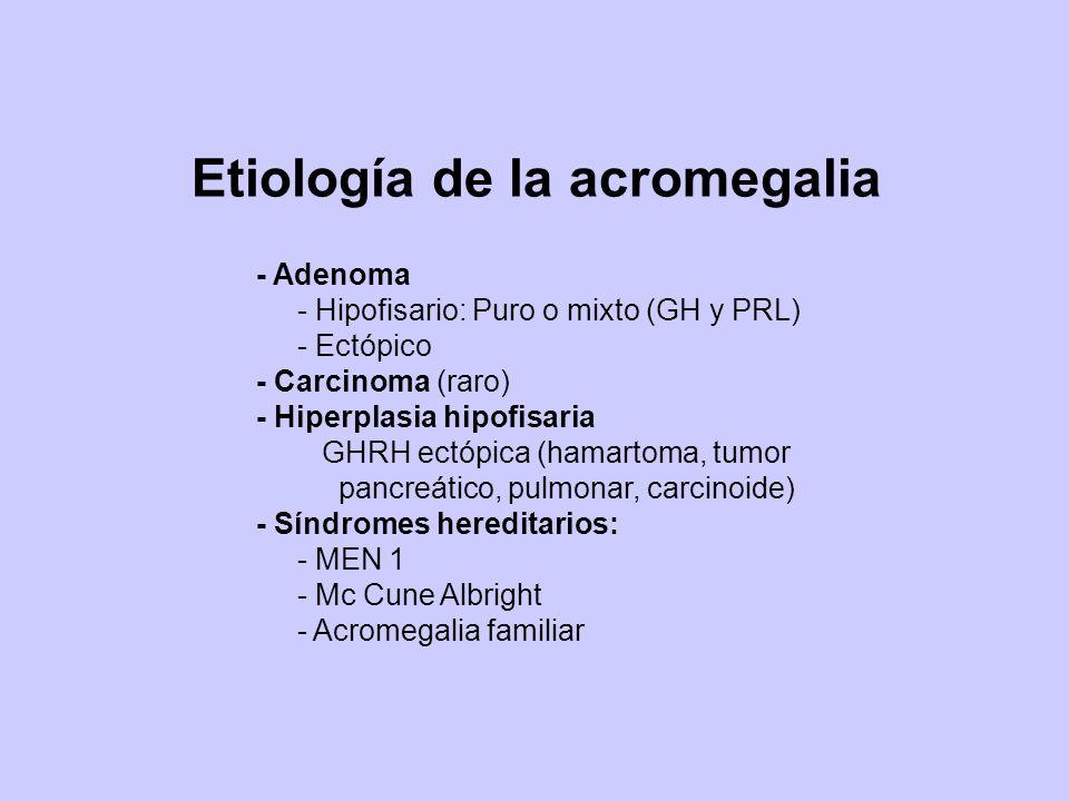 Etiología de la acromegalia