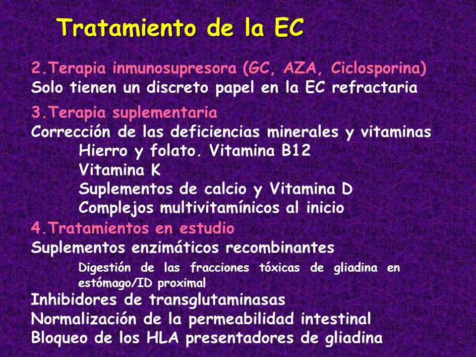 Tratamiento de la EC 2.Terapia inmunosupresora (GC, AZA, Ciclosporina)