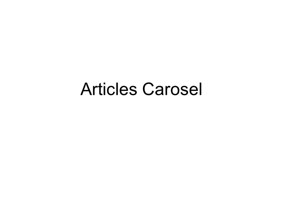Articles Carosel