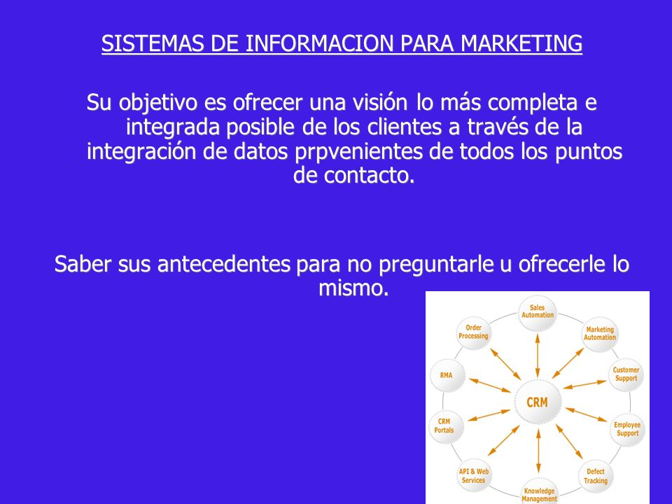 SISTEMAS DE INFORMACION PARA MARKETING