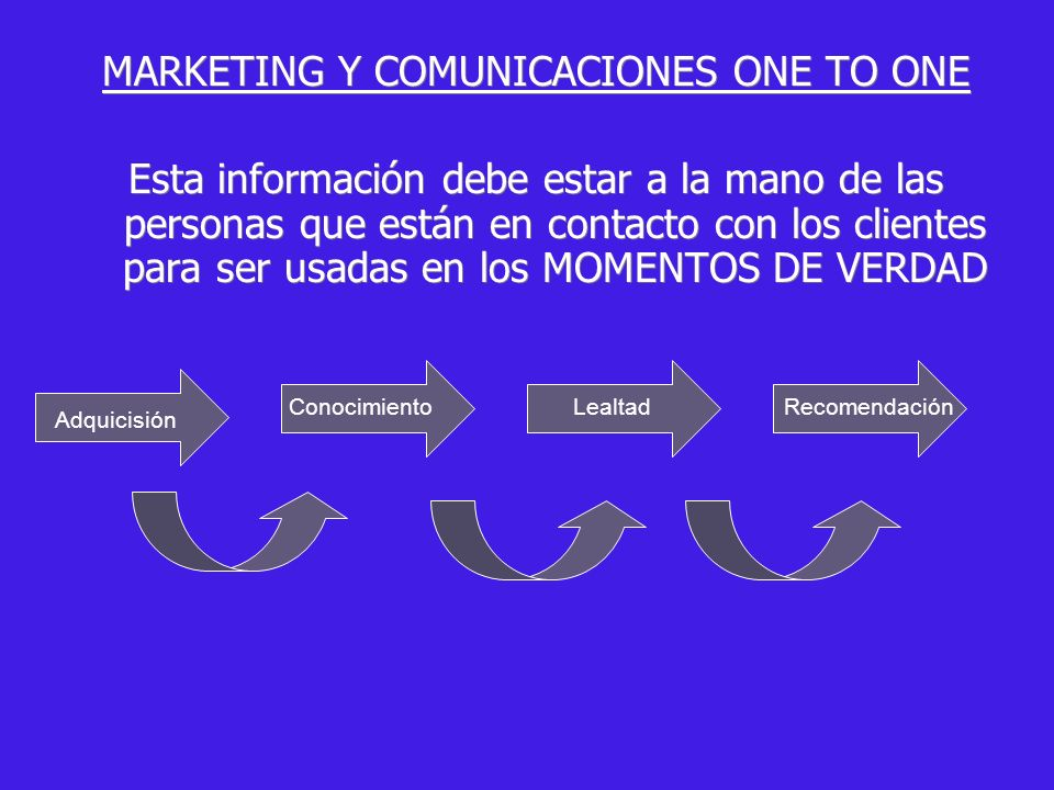 MARKETING Y COMUNICACIONES ONE TO ONE
