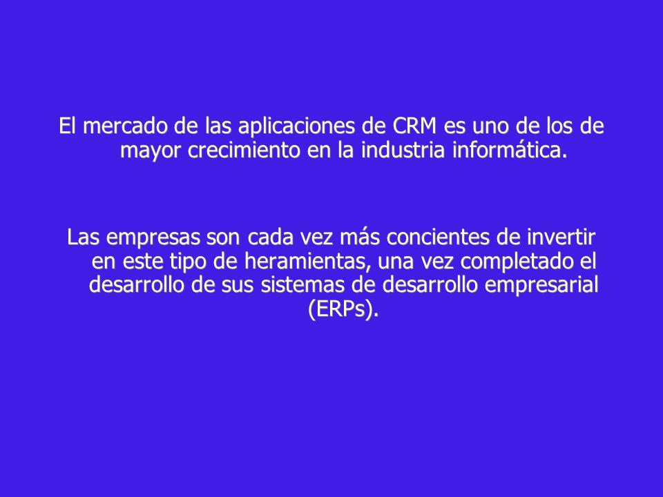 El mercado de las aplicaciones de CRM es uno de los de mayor crecimiento en la industria informática.