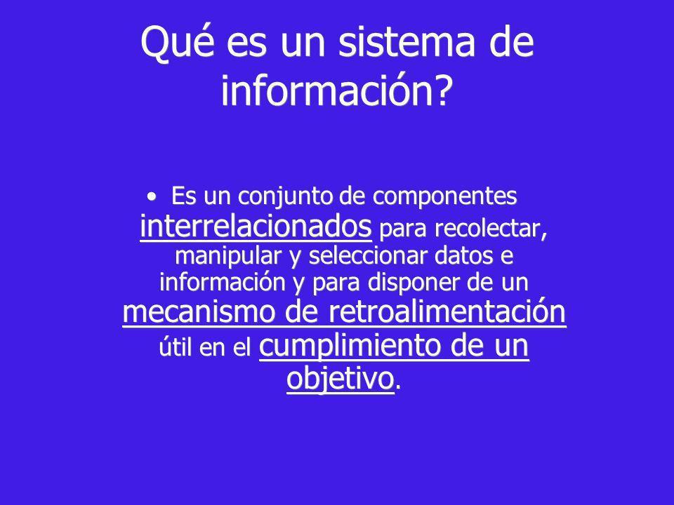Qué es un sistema de información