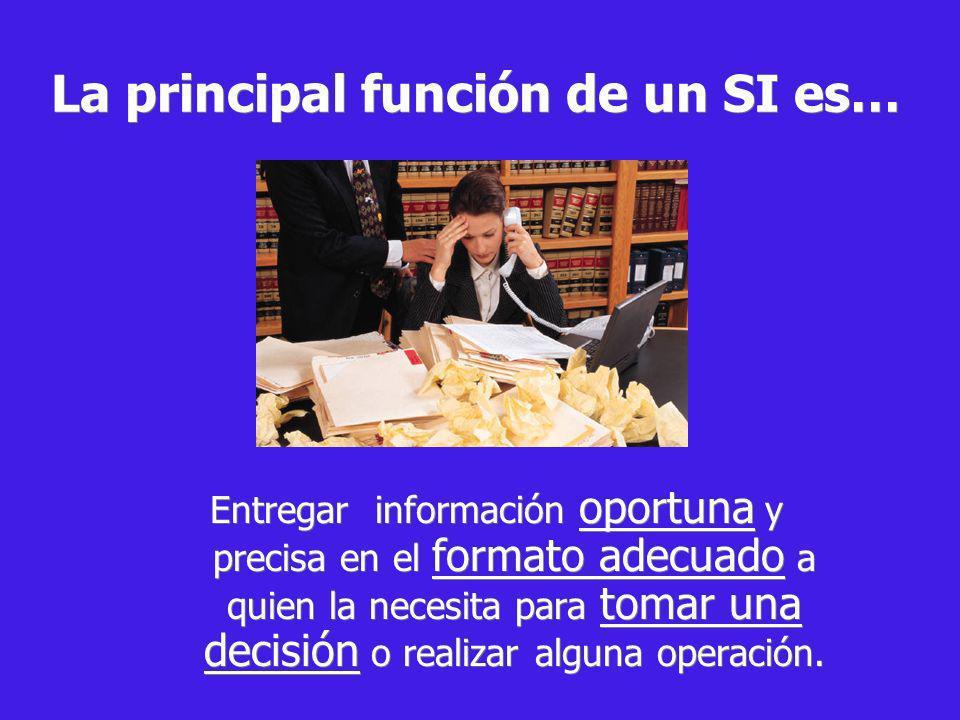 La principal función de un SI es…