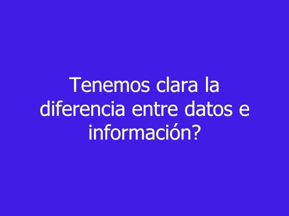 Tenemos clara la diferencia entre datos e información