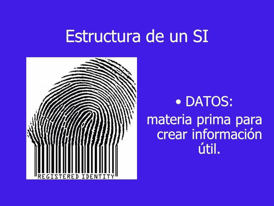 materia prima para crear información útil.