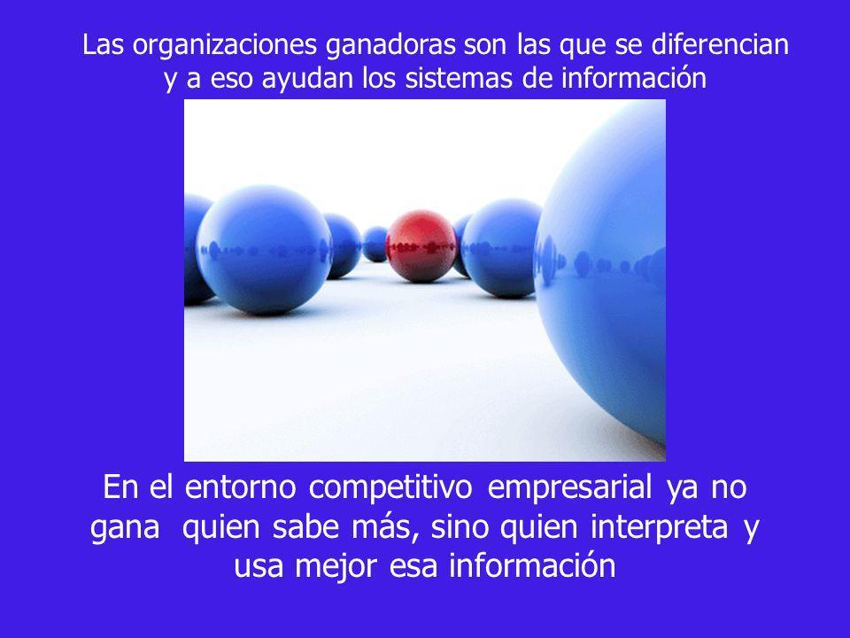 Las organizaciones ganadoras son las que se diferencian y a eso ayudan los sistemas de información