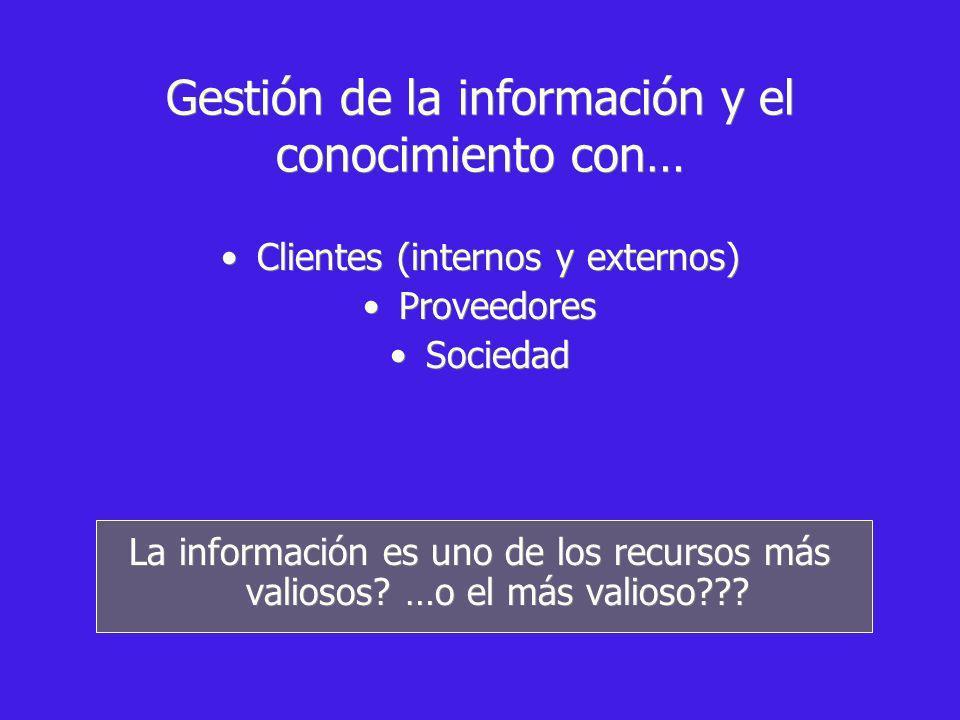 Gestión de la información y el conocimiento con…