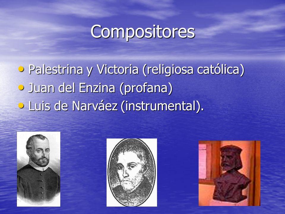 Compositores Palestrina y Victoria (religiosa católica)
